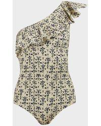 Étoile Isabel Marant Sicilya One-shoulder Swimsuit - Multicolour