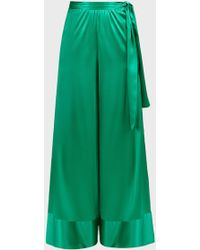 ‎Taller Marmo Jimi Forever Satin Trousers - Green