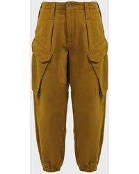 Utilitarian Cargo Trousers - Natural