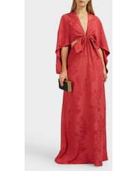 Rosie Assoulin Knotted Jacquard Gown - Red