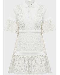 Alexis Liberty Guipure-lace-paneled Mini Dress - White