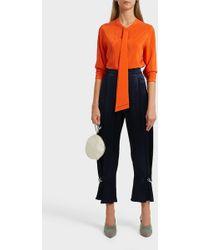 Erika Cavallini Semi Couture - Silk Blouse - Lyst