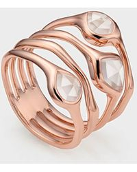 Monica Vinader Siren Cluster 18ct Rose-gold Vermeil And Rose Quartz Cocktail Ring - Multicolour