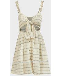 Agua Bendita Karen Striped Mini Dress - Multicolour