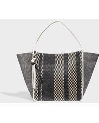Proenza Schouler - Leather-trimmed Woven Tote - Lyst