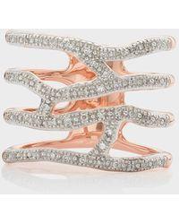 Monica Vinader Riva Waterfall Cocktail Diamond Ring - Metallic