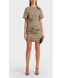 Étoile Isabel Marant Oria Checked Cotton Mini Dress - Multicolor