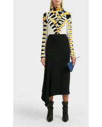 Proenza Schouler High Neck Velvet Top - Multicolour