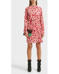 Isabel Marant Cereny Printed Stretch-silk Skirt - Red
