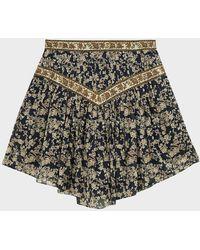 Étoile Isabel Marant Valerie Floral Cotton Mini Skirt - Multicolour
