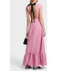 Rejina Pyo - Ella High Neck Linen-blend Dress - Lyst