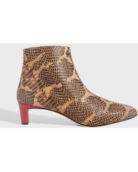 Atp Atelier - Clusia 45 Snake Embossed Boots - Lyst
