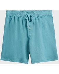 120% Lino - 120% Linen Drawstring Linen And Cotton-blend Shorts - Lyst