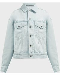 T By Alexander Wang Oversized Denim Jacket - Blue