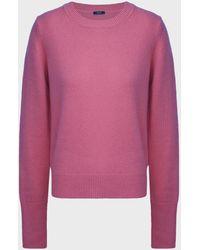 JOSEPH Round-neck Cashmere Sweater - Pink