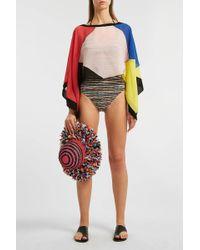 Missoni Colour-block Silk Poncho - Multicolour