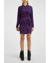 Isabel Marant Tino Ruched Top - Purple