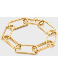 Monica Vinader 18k Yellow Gold Alta Capture Large Link Charm Bracelet - Metallic