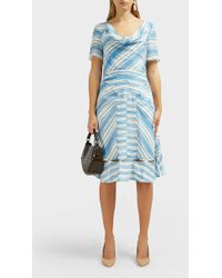 Altuzarra Lucia Striped Silk Midi Dress - Blue