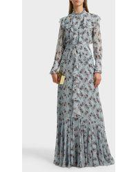 Erdem Alison Ruffled Floral-print Silk Maxi Skirt - Multicolour