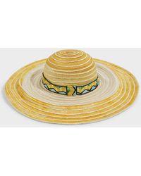 Missoni Woven Wide-brim Hat - Multicolor