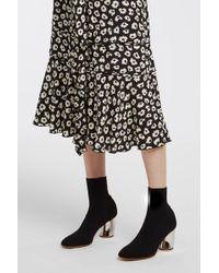 Proenza Schouler - Stretch-knit Sock Boots, Size It40, Women, Black - Lyst