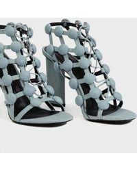 Alexander Wang - Rubie Cage Denim Sandals, Size Fr37, Women, Blue - Lyst