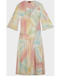 Missoni Zigzag Metallic-knit Kaftan - Multicolour