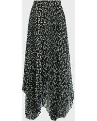 Isabel Marant Alena Graphic-print Maxi Skirt - Black