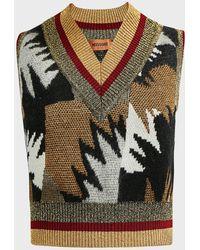 Missoni Intarsia-knit Wool-blend Vest - Multicolour