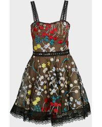 Bronx and Banco Ivana Lace Mini Dress - Multicolor