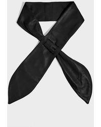 Isabel Marant Kressy Wide Leather Belt - Black