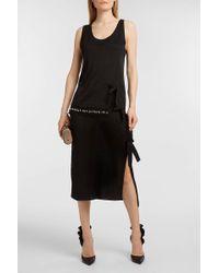 Altuzarra Fringed Bow-embellished Lurex Top - Black