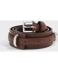 Tibi Double-layer Leather Belt - Brown