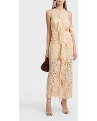 Proenza Schouler - Ruffle Cotton-blend Dress - Lyst