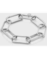 Monica Vinader Sterling Silver Alta Capture Large Link Charm Bracelet - Metallic