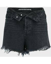 Alexander Wang Bite Flip Denim Shorts - Black