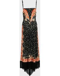 Paco Rabanne Fringe-trim Floral Crepe Dress - Black