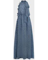 Sachin & Babi Josie Cheetah-print Maxi Dress - Blue
