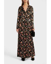 A.L.C. Leomie Floral-print Stretch-silk Blouse - Black