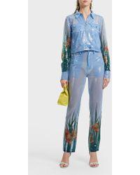 Adam Selman Sequin Pants - Blue