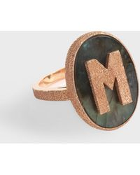 Carolina Bucci 18k Rose Gold M Initial Ring - Multicolour