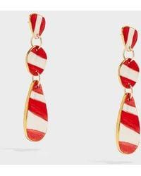 Sonia Boyajian - Buren Gold-tone Ceramic Earrings, Size Os, Women - Lyst