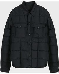 AMI Quilted Overshirt - Black