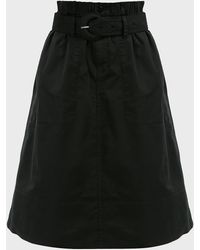 Proenza Schouler Belted Cotton Midi Skirt - Black