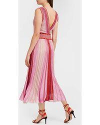 Missoni - Metallic Ribbed-knit Dress - Lyst