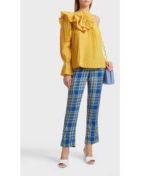 Rosie Assoulin Plaid Trousers - Blue