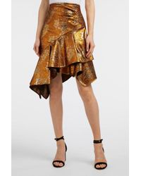 Peter Pilotto - Asymmetric Metallic Jacquard Skirt, Uk6 - Lyst