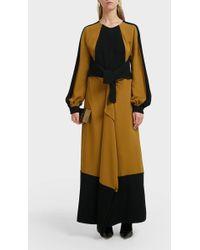 Proenza Schouler Two-tone Crepe Maxi Dress - Multicolor