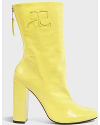 Courreges | Logo Patent Leather Boots | Lyst